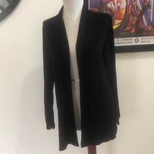 Chico's Travelers Black Open Front Cardigan 1 Med